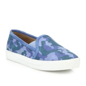 Joie Huxley Camo-Print Suede Skate Sneakers